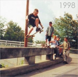ryan skateboarding in 1998